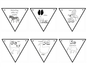 Coloring with My ABCs Banner A-E