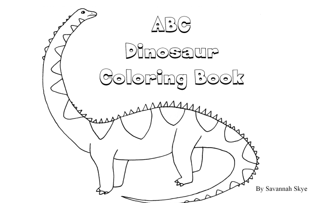 Abc dinosaur coloring book for Learning planet alphabet coloring pages