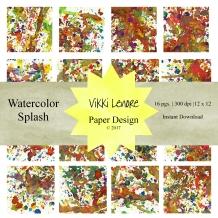 Watercolor Splash Cover